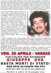 Fiaccolata per Beppe Uva a Varese: Basta morti di Stato!