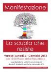 Manifestazione della scuola che resiste a Varese