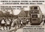 16 novembre: Pullman dalla provincia per la manifestazione in Valsusa