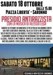 18/10 presidio antirazzista a Saronno