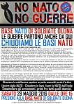 28 maggio: NO N.A.T.O. - NO GUERRE Presidio alla base N.A.T.O. di Solbiate Olona