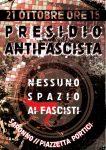 Sabato 21. Presidio antifascista a Saronno