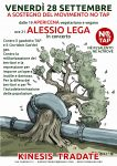 28/9 Alessio Lega al Kinesis per il Movimento No TAP