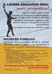 20/11 Per discutere della condizione lavorativa di educatrici ed educatori