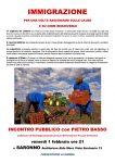 Pietro Basso a Saronno per un incontro pubblico sull'immigrazione