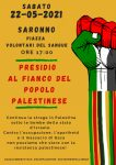 Saronno: presidio a fianco del popolo palestinese!